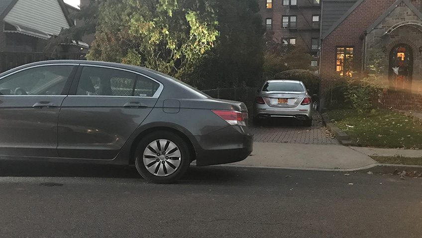 blocked driveway towing in queens